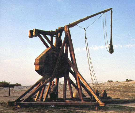 what were trebuchets made of 2